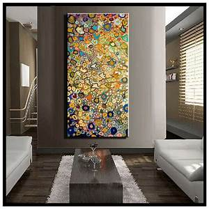 Large single Abstract flower cheap huge vertical oil