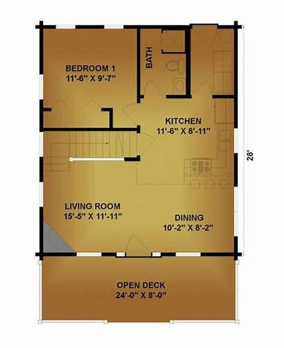 Trapper Plans Floor 1st Cabin Tiny Log