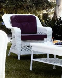 Fauteuil En Resine : fauteuil de jardin en r sine blanc brin d 39 ouest ~ Teatrodelosmanantiales.com Idées de Décoration