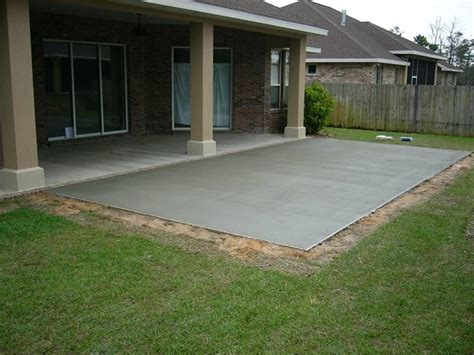 Small Backyard Concrete Patio Designs by Cement Patio Gardens Outdoor Living