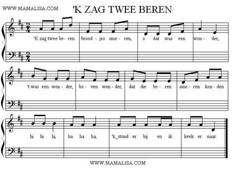 Kleurplaat Beren Broodjes Smeren by K Zag Twee Beren Broodjes Smeren Canciones Infantiles