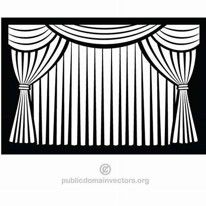Curtain Curtains Clipart Stage Closed Clip Theater