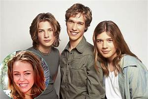 Miley Cyrus, Hanson Brothers Throwback Photo   The Daily Dish