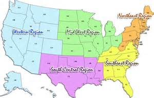 Us Map Divided into Regions