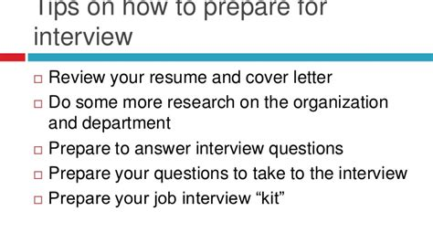 Preparing For A Job Interview As An Occupational Therapist