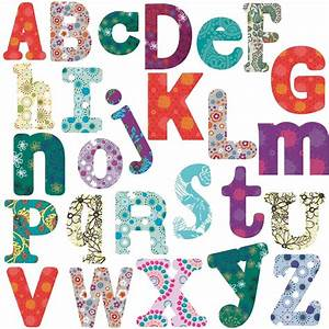 boho alphabet big room decor wall stickers vinyl removable With big alphabet letters stickers