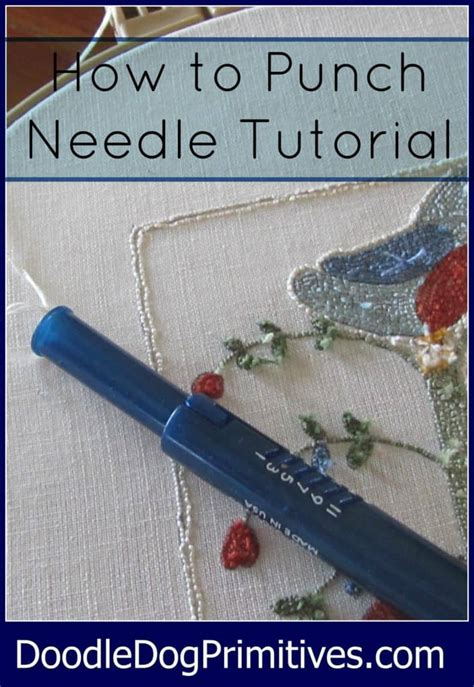 punch needle series tracing pattern doodledog designs primitives