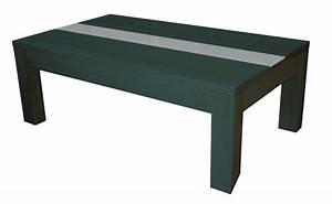 Dessus De Table En Verre : table basse noir bois table basse et pliante ~ Teatrodelosmanantiales.com Idées de Décoration