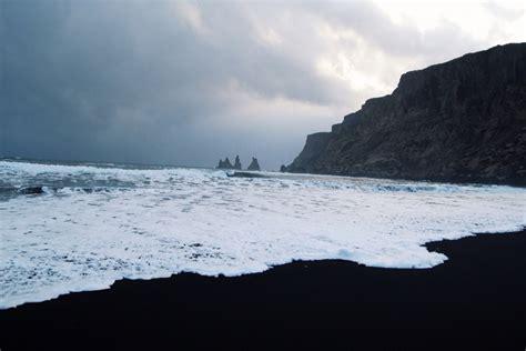 Vík Vík Iceland Troll Rocks Off The Black Sand Beach