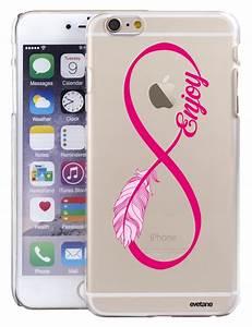 Coque Pour Iphone 6 : coque rigide transparente enjoy plume pour iphone 6 plus 6s plus ~ Teatrodelosmanantiales.com Idées de Décoration