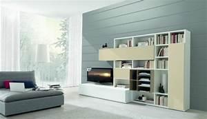 Meuble De Rangement Salon : meubles de salon 96 id es pour l 39 int rieur moderne en photos superbes ~ Teatrodelosmanantiales.com Idées de Décoration