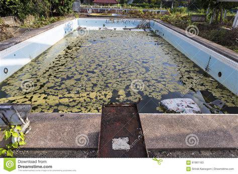 Damaged Old Swimming Pool Stock Image Image Of Grunge