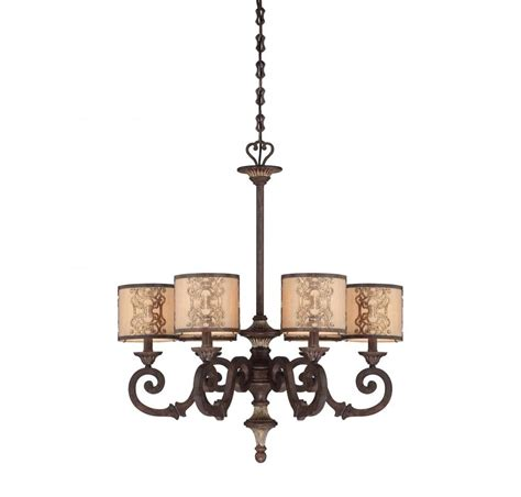 chandeliers with drum fabric shades interior exterior