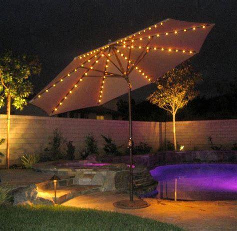 11 ft auto tilt with lights aluminum market umbrella by