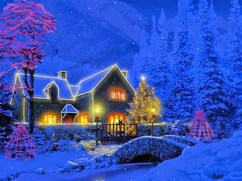 animated christmas wallpaper  windows  wallpaper