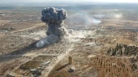 siege loreal dramatic aerial footage shows fierce aleppo battle between