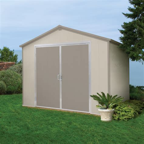 does lowes install sheds vision 9 5 ft x 8 ft vinyl storage shed lowe s canada