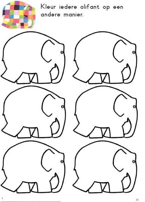 Elmer The Elephant Template by Kleuterthema Elmer On Elmer The Elephants
