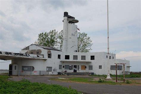 Abandoned Whiskey Island Coast Guard Station On Lake Erie