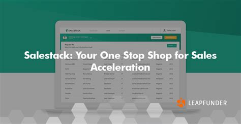 your one stop salestack your one stop shop for sales acceleration