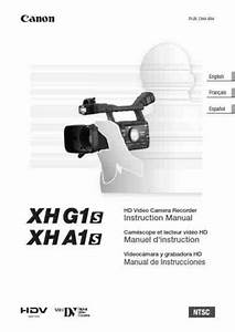 Canon Xha1 Video Camera Download Manual For Free Now