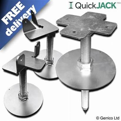 Shed Base Adjustable Quickjack Sheds Soil Foundation