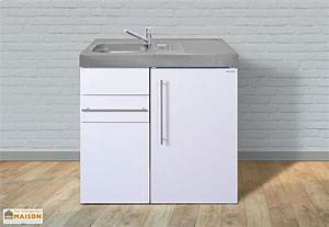 mini cuisine frigo et evier mp90 blanche stengel With meuble 90x60