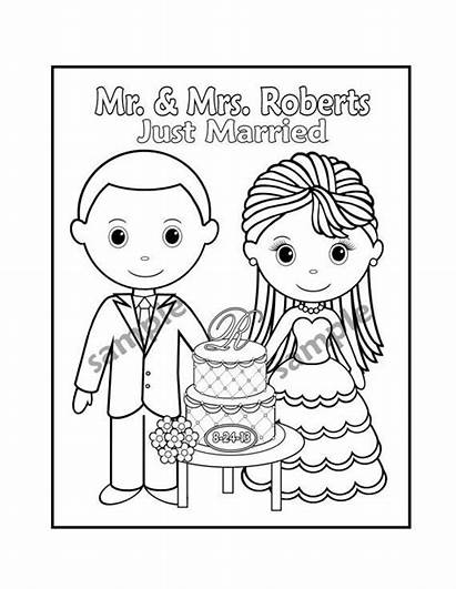 Coloring Printable Activity Personalized Favor Books Template