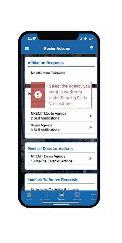 Verify Skills Mobile Officer Training Roster Agency