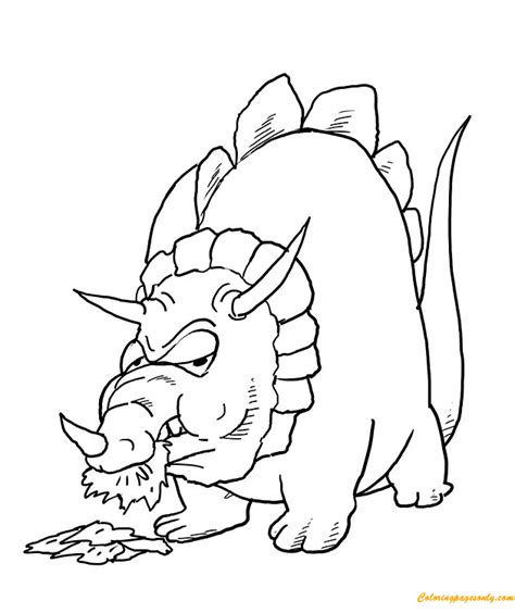 Triceratops Kleurplaat by Triceratops Dinosaur Coloring Page Free Coloring Pages
