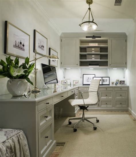 Gray Cabinets  Transitional  Denlibraryoffice Munger