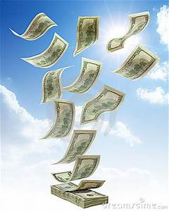 Money Falling From Sky Stock Images - Image: 11708214