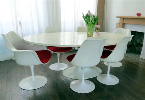 ebay chairs and tables eero saarinen large oval tulip table 6 chairs ebay