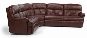 flexsteel triton four piece power reclining sectional With 4 piece recliner sectional sofa