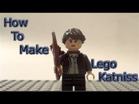 how to make hunger how to make lego katniss minifigure lego hunger games youtube