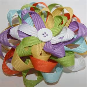 How to Make Loopy Flower Hair Bows
