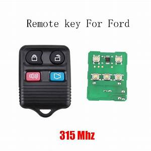 4 Buttons Replacement Keyless Entry Remote Control Key Fob Clicker for Ford Exchanged Mustang ...