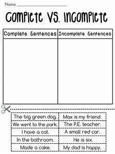 Complete Sentences Vs  Incomplete Sentences Sorting