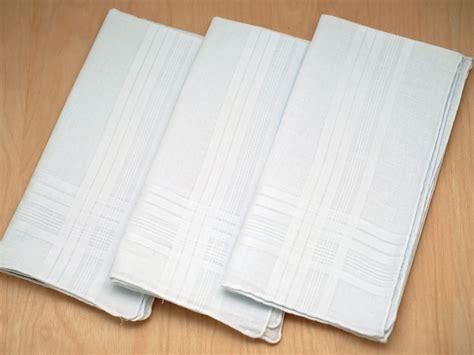 free shipping 3 mens monogrammed handkerchiefs script set of 3 mens handkerchiefs with satin stripes