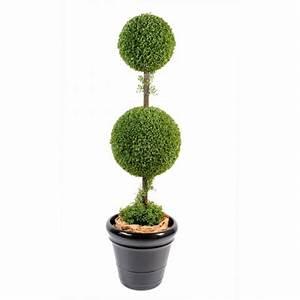 Boule Buis Artificiel : buis artificiel double boule plantes artificielles viva verde ~ Teatrodelosmanantiales.com Idées de Décoration