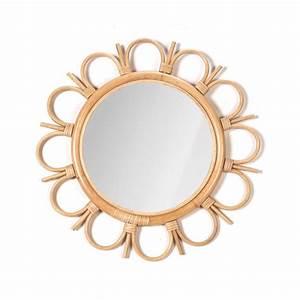 Miroir En Rotin : miroir rond en rotin tayrona drawer ~ Nature-et-papiers.com Idées de Décoration