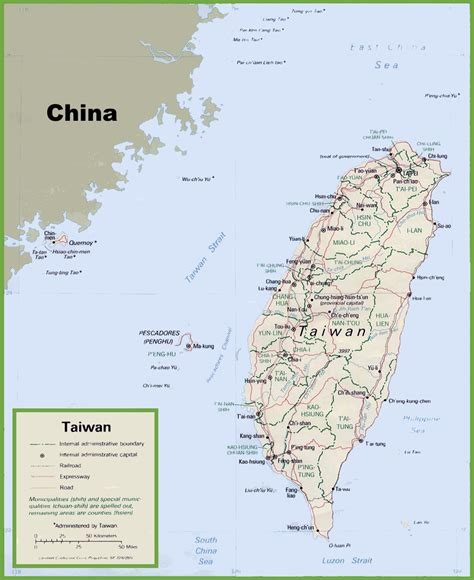 taiwan map chinese version