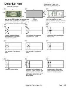 Koi Fish Dollar Bill Origami Instructions