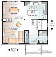 exemple cuisine ouverte s駛our w2761 plan de cottage de style anglais 3 chambres buanderie au r d c grande cuisine et séjour avec foyer cuisine
