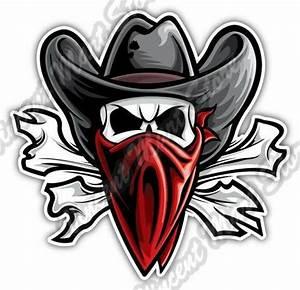Outlaw Skull Texas Western Cowboy Bandit Car Bumper Vinyl ...