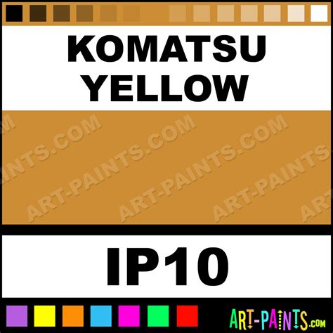 komatsu yellow industrial metal and metallic paints ip10