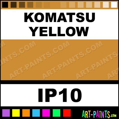 komatsu yellow paint color komatsu yellow industrial metal and metallic paints ip10 komatsu yellow paint komatsu