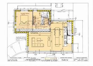 plan maison etage 4 chambres 1 bureau With plan maison 4 chambres etage