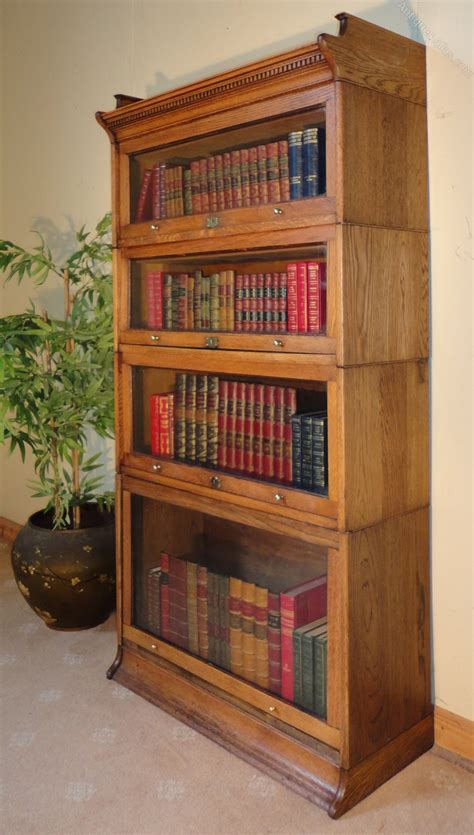 Four Section Stacking Bookcase By Harris Lebus Antiques