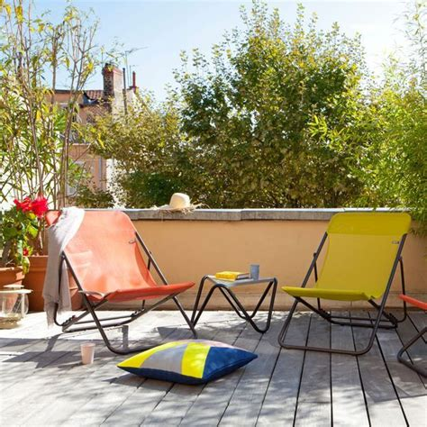 meuble petite terrasse balcon fauteuil chaise  table